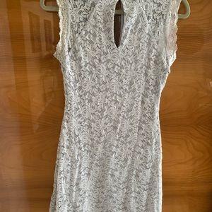Light gray lace Bebe dress